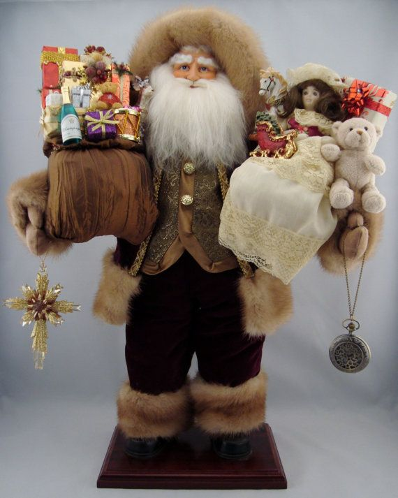 Regal Santa  Santa Claus Doll  24 Tall por DianesHeirloomSantas