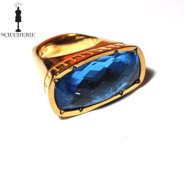 """Collezione """"Tropezienne"""". Anello in bronzo e pietra idrotermale IOLITE. #rings #rebeccajewels"""