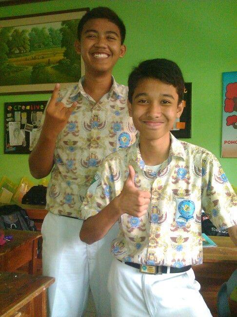 W/ my best Friend . Hafizh :)