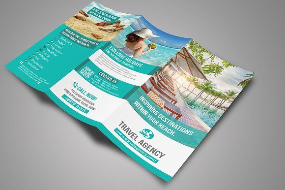 Travel brochure template | Travel Tri-Fold Brochure by Creative  designer on Cre...