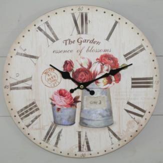 Horloge Ambiance Jardin Anglais
