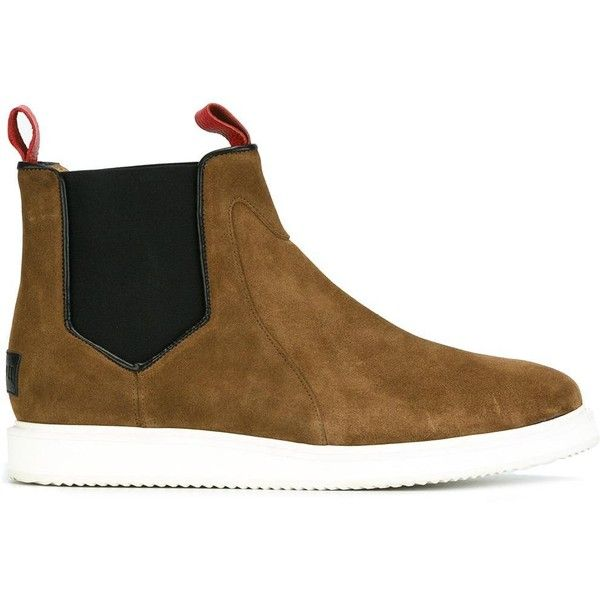 Mason Garments chelsea boots ($310) ❤ liked on Polyvore featuring men's fashion, men's shoes, men's boots, brown, mens brown shoes, mens brown chelsea boots, mens brown leather boots, mens leather shoes and mens brown boots
