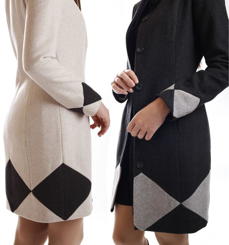 Two-color wool-blend coats muza-shop.com