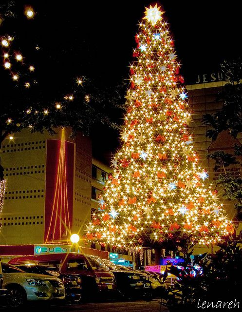 the Giant Christmas Tree  Araneta Center, Cubao, Quezon City  Philippines via flickr