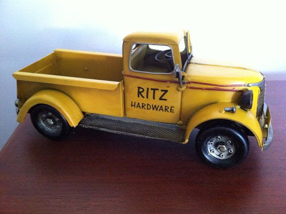 Vintage 1940s Old Chevy Pickup Truck Tin Metal Automobile Vehicle Figurine Car Toy Miniature Car Construction Vehicle Home Decor Room Decor on Etsy, $68.99
