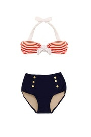 cute vintage inspired nautical two piece