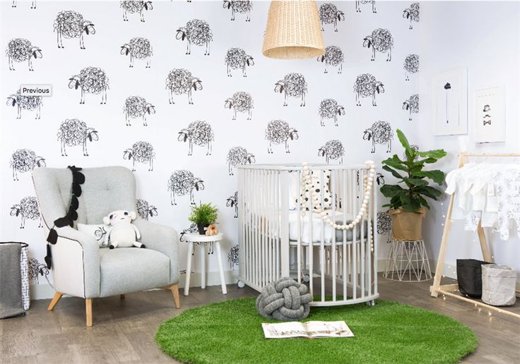 Alisa & Lysandra Kids Wallpaper - Have You Any Wool - Grafico Custom Wall Coverings - Product Showroom