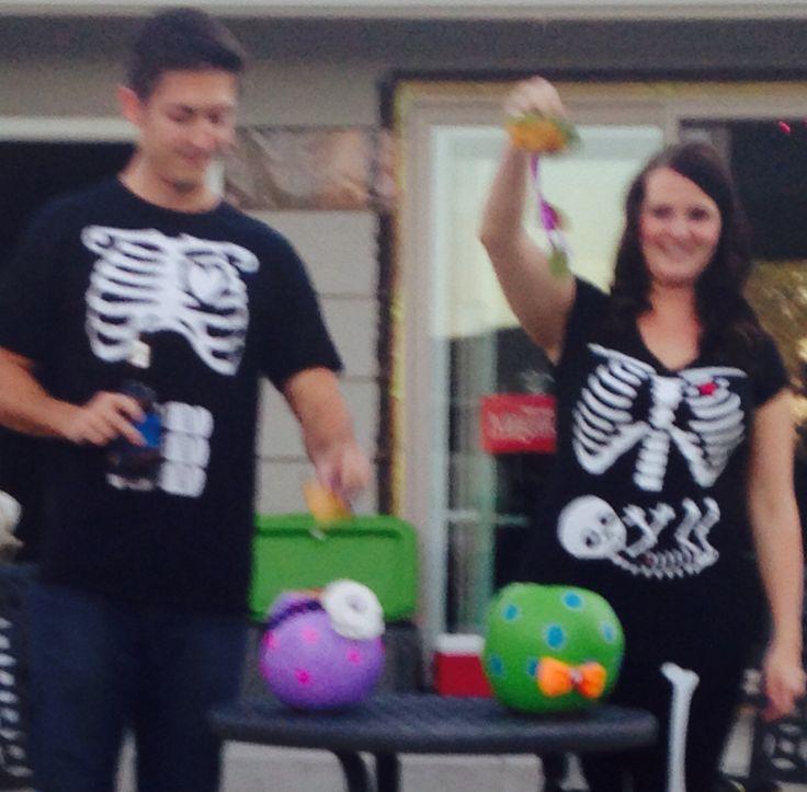 It's a boy! Halloween gender reveal party.