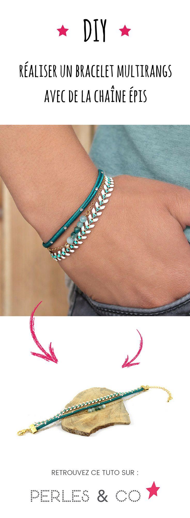 Être chic et porter un gris-gris, ce n'est pas incompatible ! Suivez ce tutoriel DIY facile pour créer un bracelet multirangs avec de la chaîne épis « œil porte-bonheur ». Ce bracelet multirangs fin et facile à réaliser pourra être entièrement personnalisé.