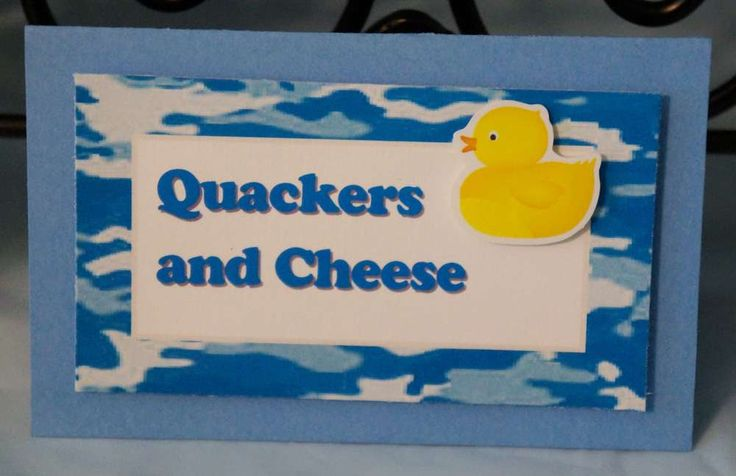 Rubber Duckies and Blue Camo Baby Shower Party Ideas | Photo 10 of 36 | Catch My Party