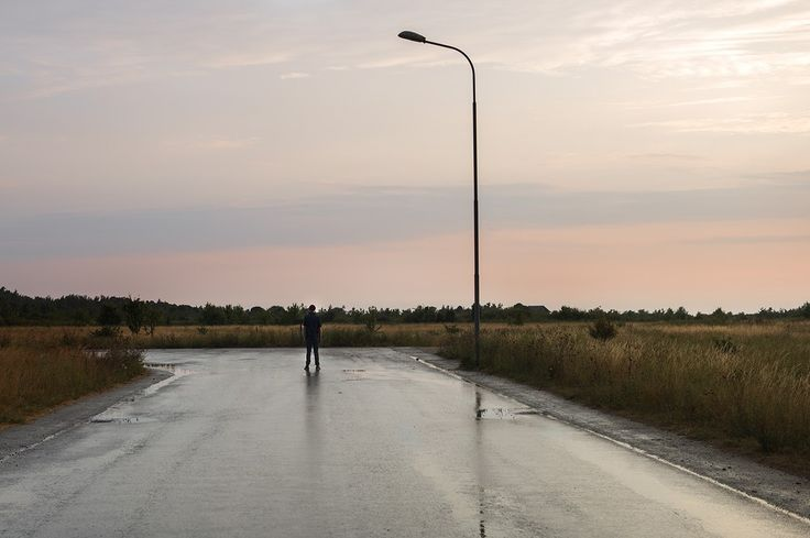 """""""Last man standing"""" by Anna Sundström. #photography #art #road #grey #rain #sky   available at: http://www.arrivals.se/product/last-man-standing-by-anna-sundström"""