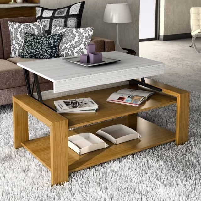 1000 id es sur le th me table basse relevable sur pinterest table console e - Table relevable bois ...