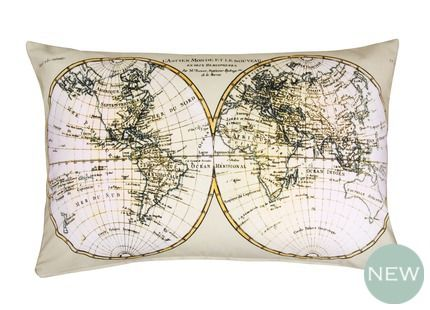 Antique map print cushion - Laura Ashley