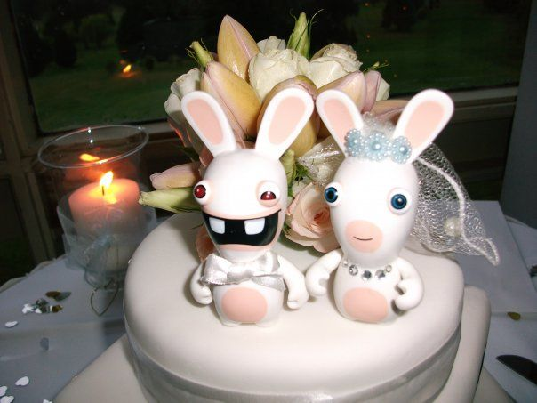 Rabbids wedding cake wedding pinterest wedding geek - Gateau lapin cretin ...