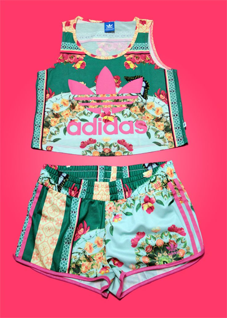 adidas floral - this is crazysauce - 52 Best Floral Prints ♡☆ Images On Pinterest