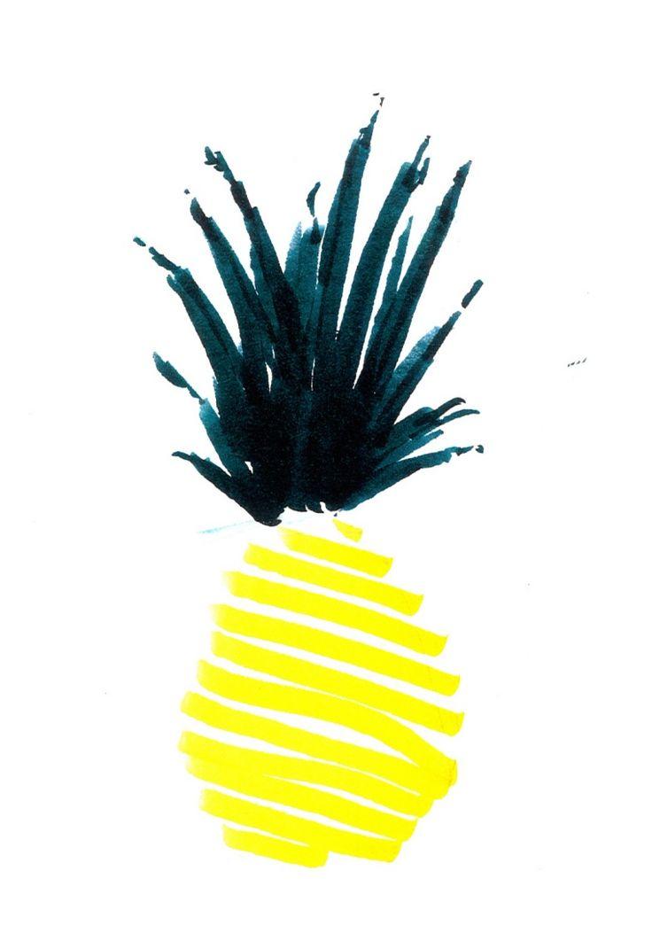 25 best ideas about pineapple illustration on pinterest