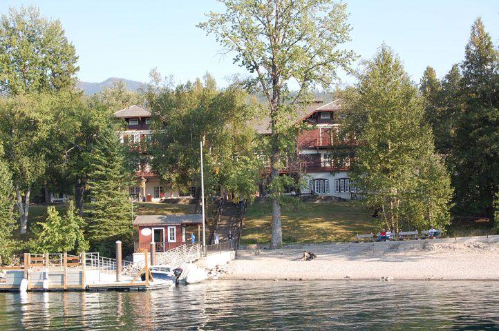 View of Lake McDonald Lodge from the Lake