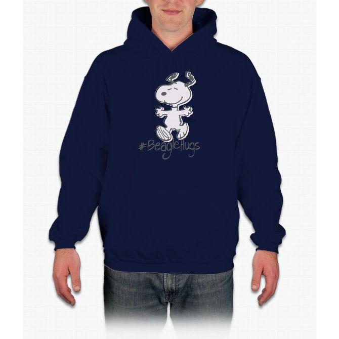 Snoopy Beagle Hugs Hooded Sweatshirt
