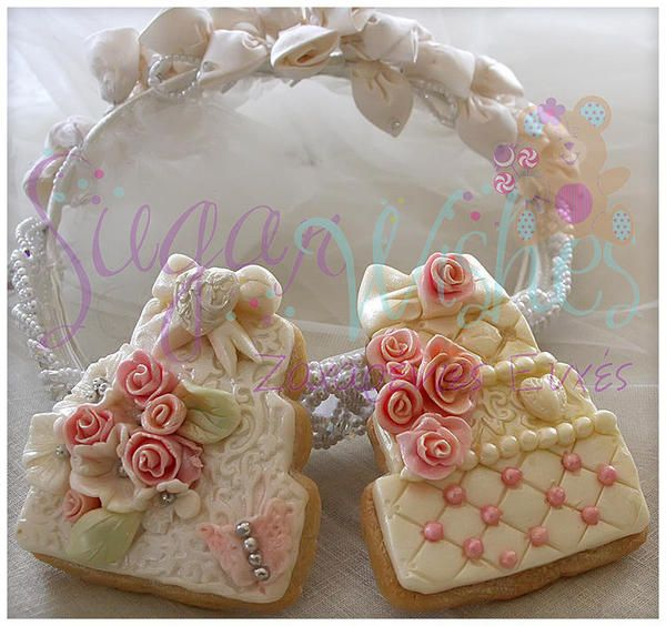 wedding cake look-a-like cookies