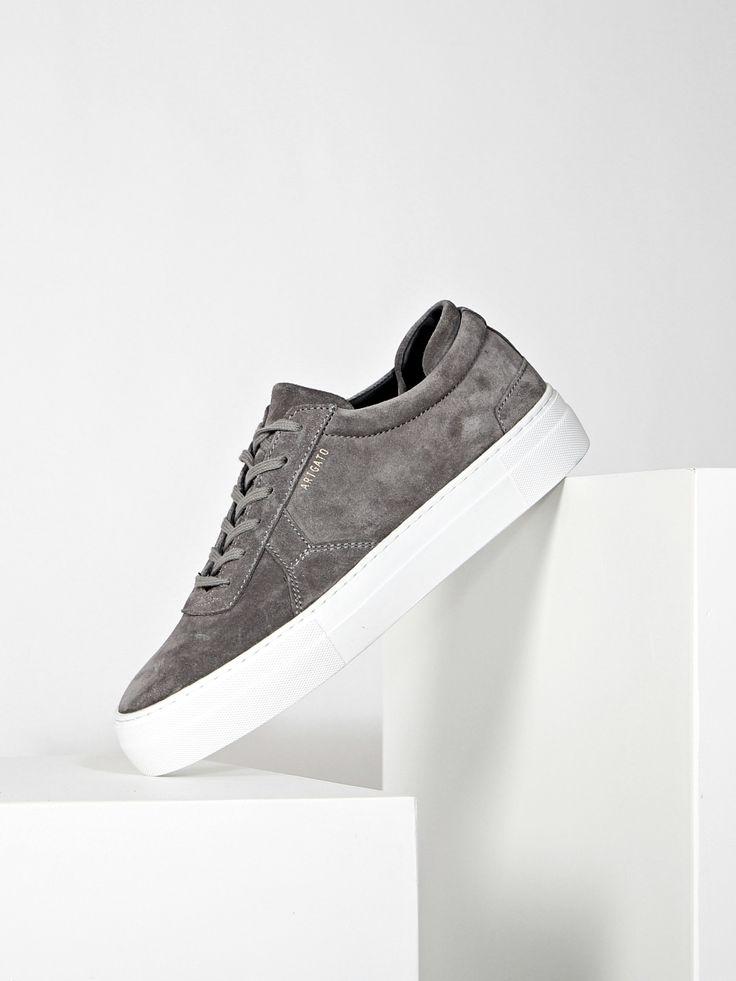 Grey suede platform sneaker from Axel Arigato. Shop online: axelarigato.com