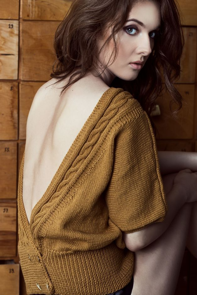 Earthy colors at Dawanda Sweaters & Vests – Noch back sweater – a unique product by dressing on DaWanda