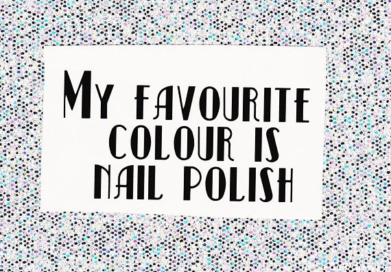 My Favourite Colour is Nail Polish vinyl decal for travel
