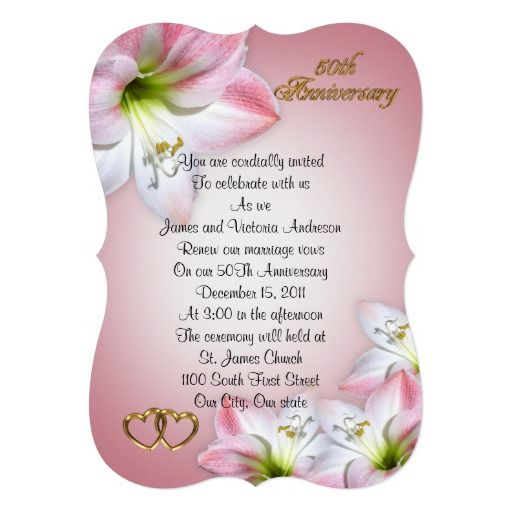 50th Wedding Anniversary Vows Renewal: 75 Best 50th Anniversary Vow Renewal Invitations Images On