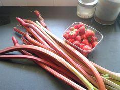 keukenprinses op het platteland: Aardbeien rabarber jam