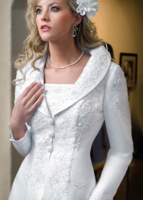 modest wedding dress vest no lie this is called the bippity boppity wedding dress