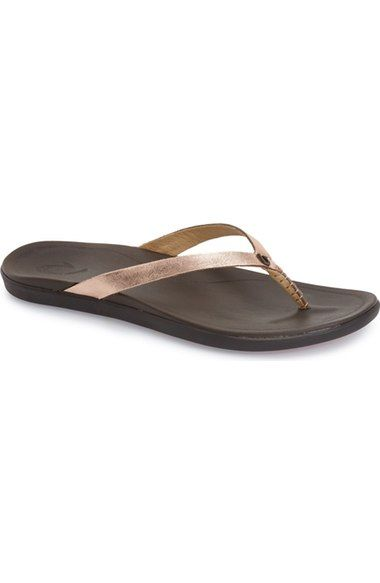 OluKai 'Ho Opio' Leather Flip Flop (Women) available at #Nordstrom