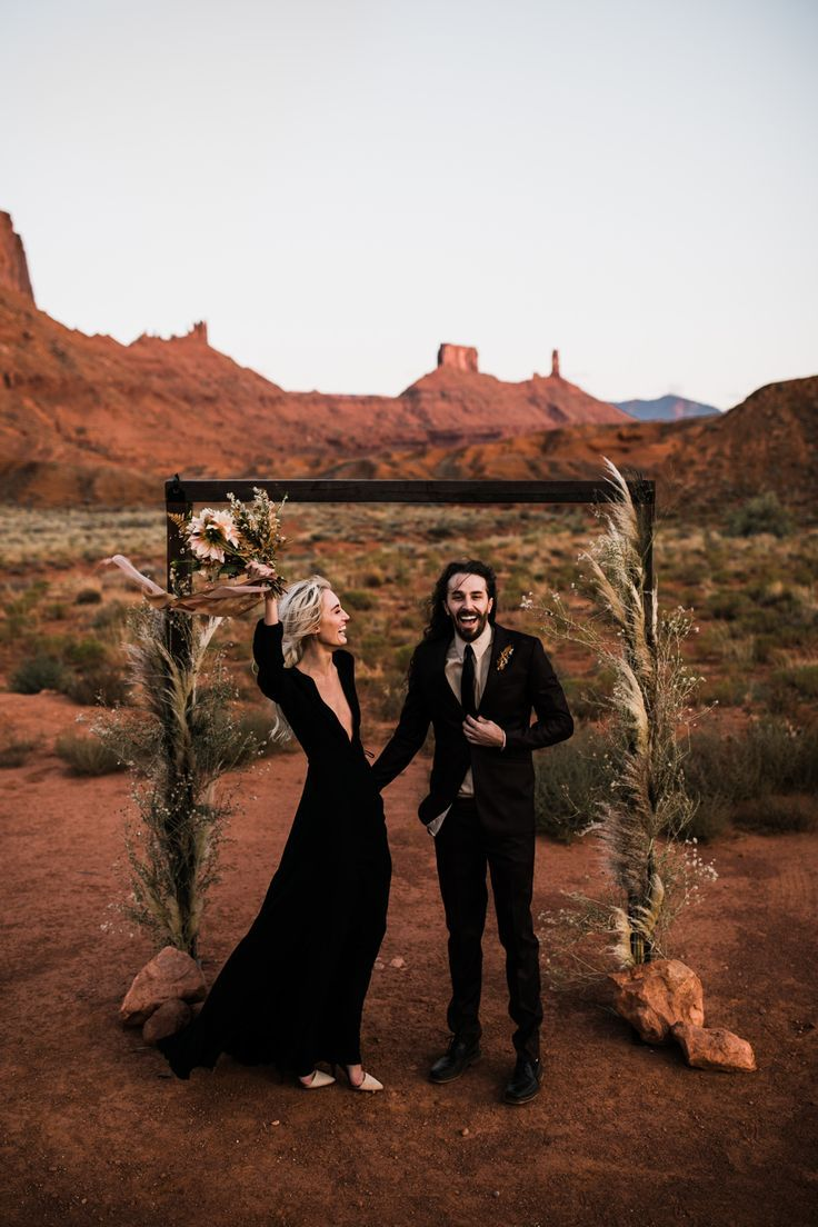 adventurous desert elopement in moab, utah – #adve…