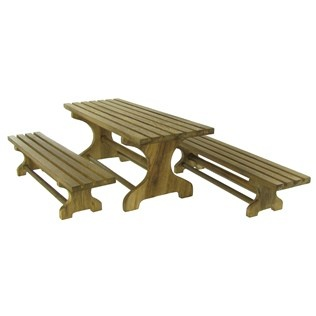 Mayberry Street Miniature Walnut Picnic Table Set | Shop Hobby Lobby