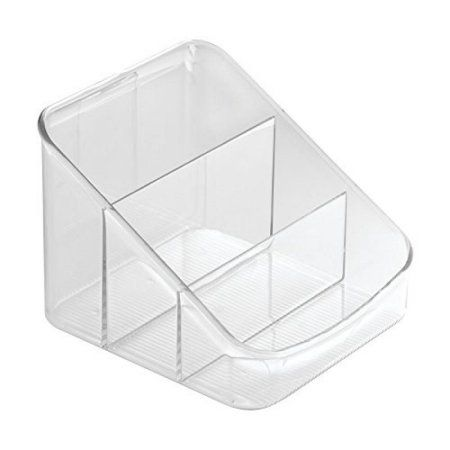 InterDesign Linus Spice Packet Organizer Bin for Kitchen Pantry, Cabinet, Countertops – Clear
