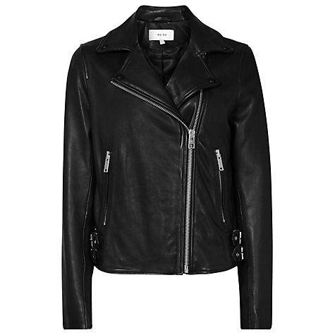 Buy Reiss Leather Caden Biker Jacket Online at johnlewis.com