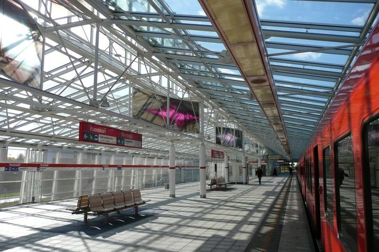 Metro platform at Vuosaari, Helsinki, Finland