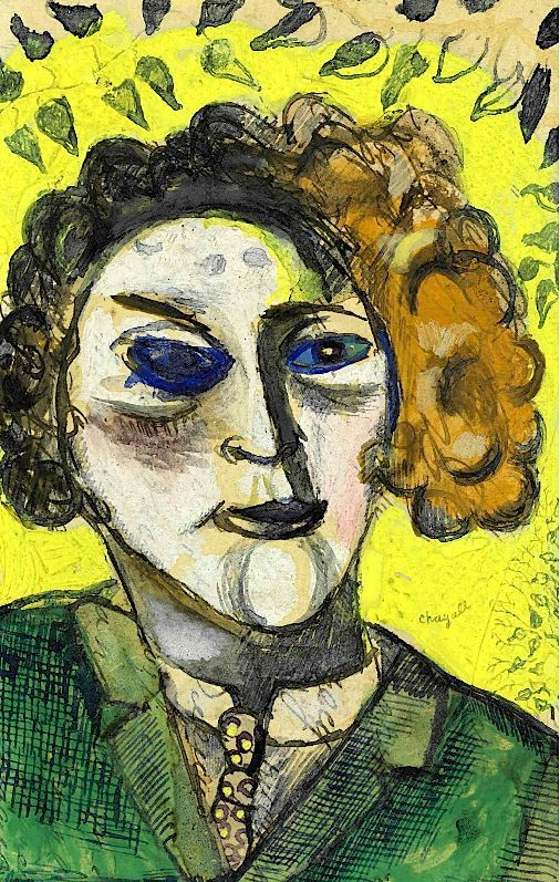 Self-Portrait, Marc Chagall. art, artwork, paintings