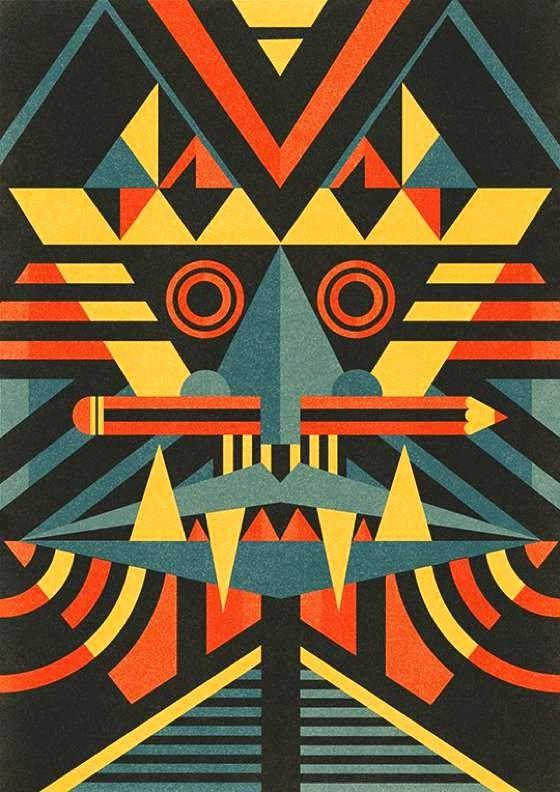 patternprints journal: CRAZY PATTERNS WITH BAUHAUS TASTE INTO ARTWORKS BEN NEWMAN