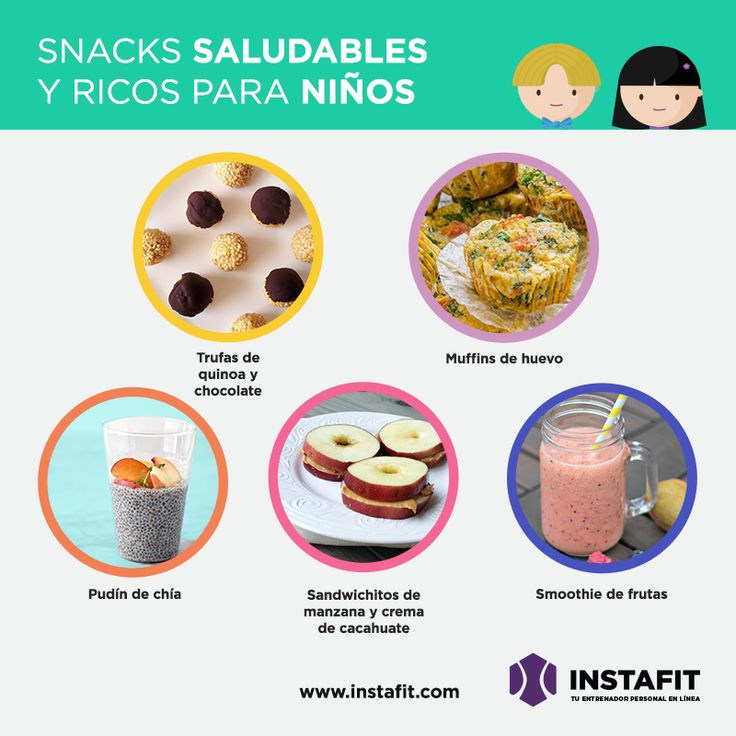 Snacks saludables para tus hijos #lunch #healthymoms #kids