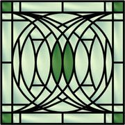 frank lloyd wright stained glass tree of life | Geometric Stained Glass Window Art Decorative Window Film Pattern ...