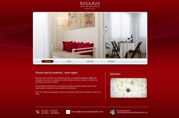 """Diseño Web para la firma """"Rosario Bed & Breakfast"""" de la ciudad de rRosario"""