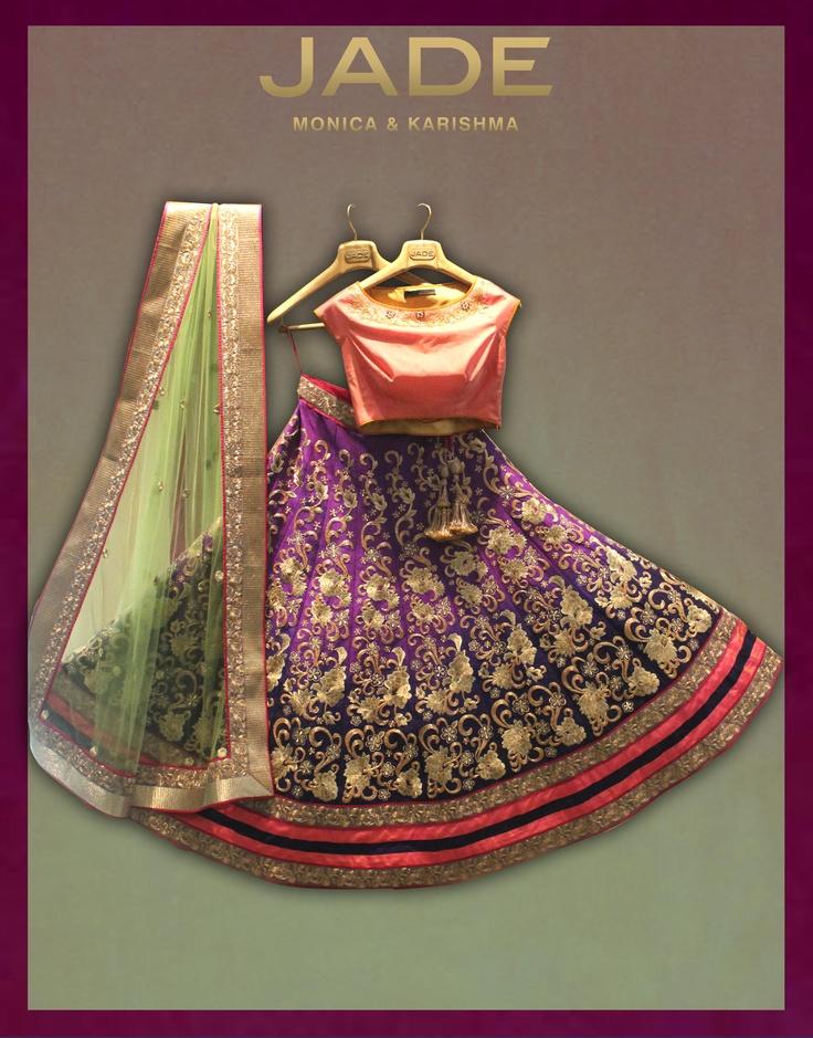 Royal, royal, royal!   #JADEbyMK #India #classic #colours #bride #weddings