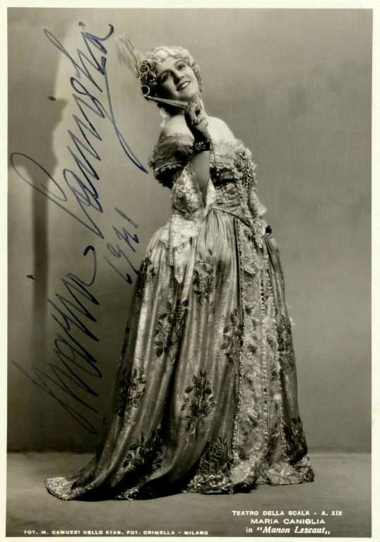 "Maria Caniglia in the title role in Giacomo Puccini's ""Manon Lescaut"" (1893) in 1941."