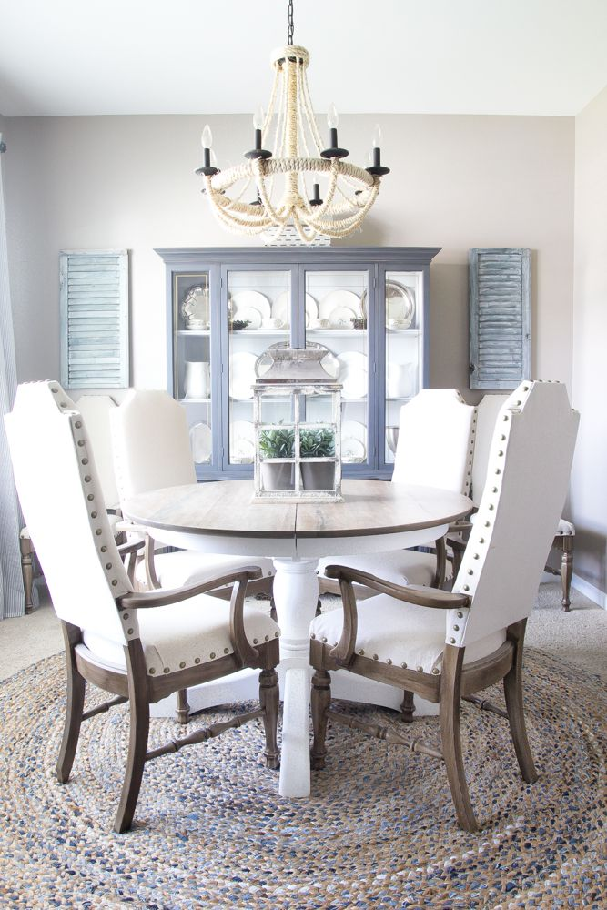 Weathered Oak Dining Table Makeover Simple Home And Ux