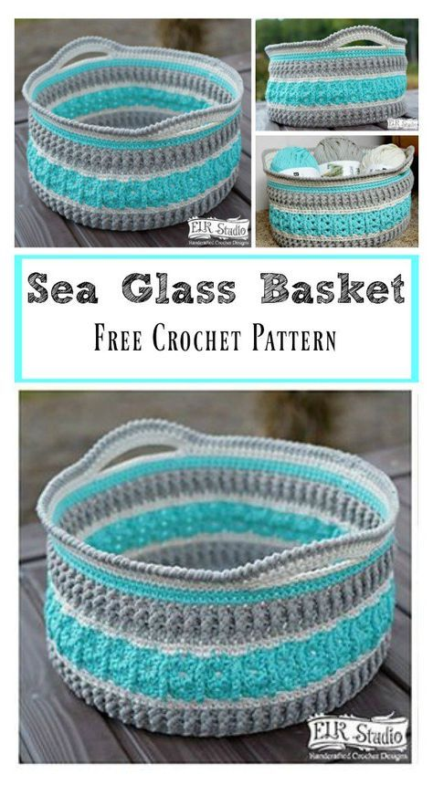 Sea Glass Basket Free Crochet Pattern | Crafts-Crochet/Knit ...