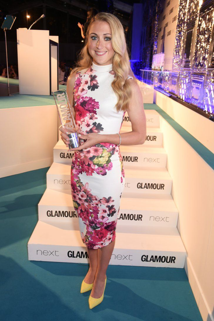 Pin for Later: See All the Stars on the Glamour Women of the Year Red Carpet! Laura Trott Laura won the Sportswoman of the Year award.