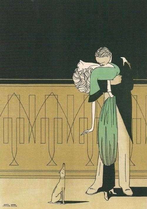 """Lovers""   "" City Vals (1910) ""  by Sven Brasch"