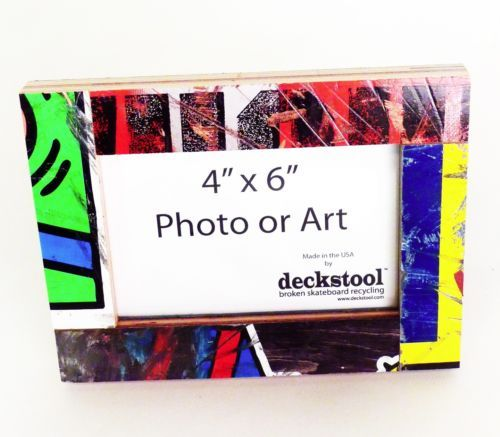 Recycled Skateboard Frame #012 for 4x6 photo by Deckstool