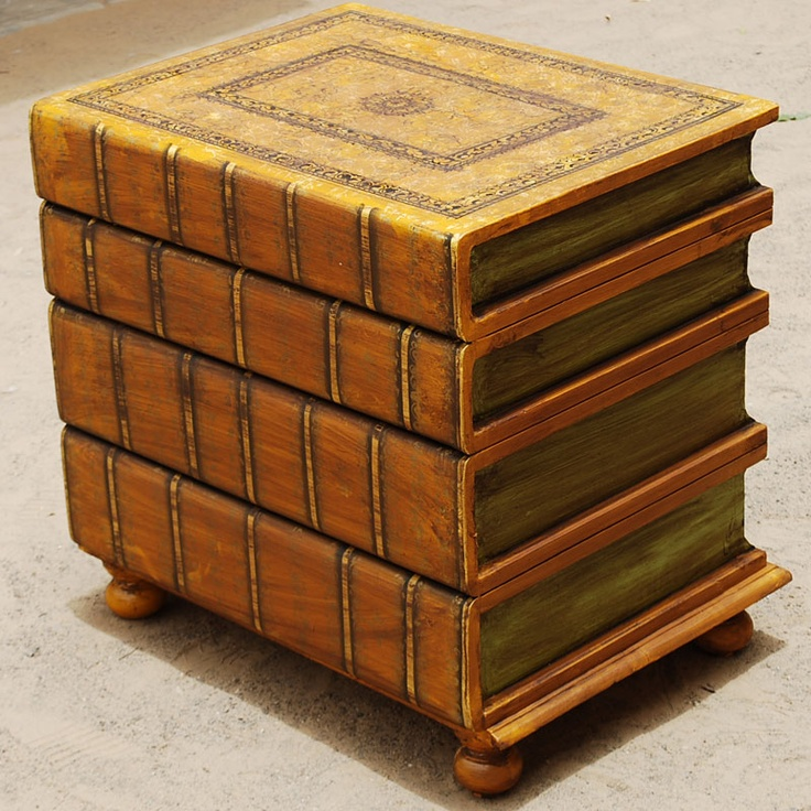 Best Whimsical Stacked Books Accent Table Stacked Books 400 x 300