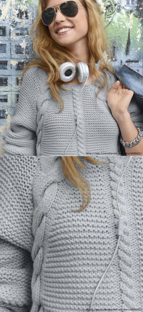 Шикарный пуловер от PHILDAR.