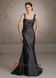 Graphite metal bridesmaid dress